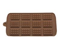 الجديد الطعام سيليكون قالب 12 حتى الشوكولاته قالب أقراص سكرية قوالب DIY كاندي بار قالب أدوات تزيين الكيك مكملات مطابخ الخبز