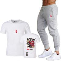 2020 été à manches courtes Impression 3D T-shirt T-shirt des hommes de sang méchants hommes T + pantalon de fitness pantalon de piste de jogging costume masculin
