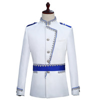 Stile Court Prince Blazer Uomo Stage Matrimonio Groom Slim Fit Giacca Veste Homme Costume Bleiser Hombre