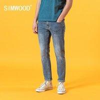 Erkek Jeans Simwood 2021 Yaz Slim Fit Açık Mavi Erkekler Moda Klasik Denim Pantolon Yüksek Kaliteli Marka Giyim SJ120387
