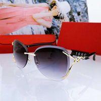 2020 Sommer-Frauen Designer-Sonnenbrillen Luxus-Frauen-Sonnenbrille Adumbral Goggle Brille UV400 C 1886 3 Farbe hohe Grad Qualität mit Box
