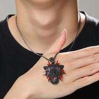 Pantera gelado colares pingente para homens designer de luxo mens leopardo preto bling pingentes de diamante diamantes colar animal jóias presente