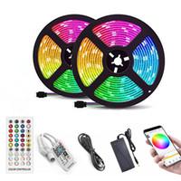 LED-Streifen-Leuchten wasserdicht flexible Klebebeleuchtung Farbwechsel 5050 RGB 300 LEDs Light Strips Kit mit 40 Tasten IR-Fernbedienung