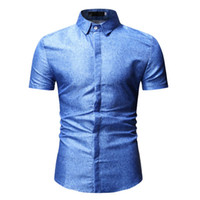 2019 New Floral Men Shirts Short Sleeve Fashion Casual Fit S...