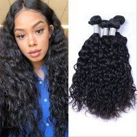 Pérou Human Hair Weave 4 Bundles Vague Virgin cheveux Double Trames humide non transformés et onduleux