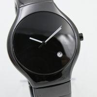 damas limitados venta caliente Rad VERDADERO 40mm R27653172 reloj redondo de alta calidad Fecha de cerámica negro de lujo del movimiento de cuarzo relojes para mujer de la moda