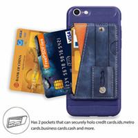 프리미엄 PU 가죽 지갑 케이스 아이폰 7Plus 신용 카드 ID 홀더 비즈니스 스타일 뒷면 커버 foriphone xs max xr 8 plus