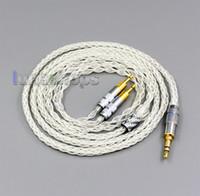 % 99 Saf Gümüş XLR 2.5mm 4.4mm 3.5mm 8 Çekirdek Kulaklık Kulaklık Kablo Sennheiser HD700 LN006427 İçin