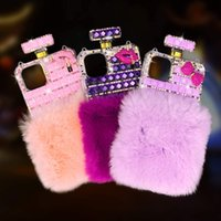 Bling Diamond Crystal Rhinestone cubierta botella de perfume del teléfono para el iPhone 7 8plus Xr Xs Max Pro 11 11 12 12 Mini Samsung S20 Nota 20