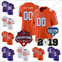 Custom Clemson Tigers 2018 Campioni nazionali Qualsiasi numero nome # 6 DeAndre Hopkins 8 Justyn Ross Cotton Bowl College Football Maglie S-3XL