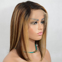 vancehair Highlights1b  #4 #27 13x6 Lace Front Human Hair Wi...