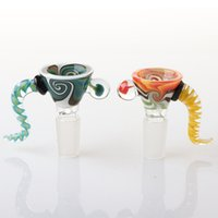14mm Wig Wag Glass Bowl With Handle Glass Bowl Tobacco Smoki...