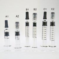 1 ml 2,25 ml Glasspritzen-Injektor Luer-Lock-Luer-Kopf-Glasspritze mit Messmarke Teilstrich Vape-Kartuschen Ölfüllwerkzeug