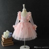 Moda menina vestido rosa princesa estilo para ocasiões especiais vestido de bola com bowknot para 3 4 5 6 7 8 anos de idade