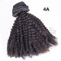 100% необработанные перуанские волосы 4A 4B 4C девственная человеческая кутикула выровнена 140g натуральный черный афро кудрявый вьющийся клип в расширениях человеческих волос