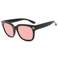 2019 جديد للمرأة جولة مربع النظارات الشمسية أزياء النحل الاستقطاب النظارات الشمسية UV400 إطار كبير المرأة الأزياء القط العين النظارات مع مربع