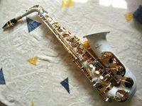 Top Brand New YANAGISAWA Sassofono A-992 bianco Chiave d'oro Sax professionali Bocchino Patches Pad Ance Bend collo e la cassa