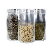 100PCS / 많은 반투명 알루미늄 파우치 가방은 투명 식품 저장 패키지 애 가방 재활용 커피 가방을 서 호일