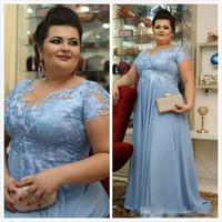Arabische Spitze billige Mutter der Braut Kleider Sheer Hals Cap Sleeves Mutter von Bräutigam Kleider Chiffon Formale Abend Party Kleider Z46