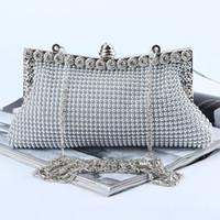 Дизайнер-Оптово новое ручная работа довольно алюминиевый лист вечер сумка / сцепление с атласом для свадьбы / банкет / партии / Porm (больше цветов)