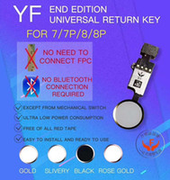 YF Qualidade New Universal Home Menu Button Replacement Retorno Key Flex Cable Para iPhone 7 7 Plus 8G 8 Plus No Touch ID
