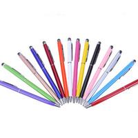 قلم حبر جاف بالسعة 2 في 1 لهواتف ايفون 6G 6S 7 8 X MAX Samsung S7 Note3 Pc