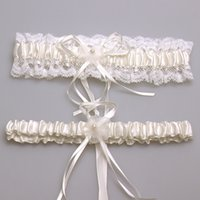 Ivory Sexy Lace Bowknot Bridal Garter Set Bride Wedding Acce...