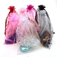 100pcs   lot 7x9cm Organza Bags Jewelry Packaging Bags Weddi...