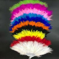 huesos ventilador elegante pluma plegable Escenario Actuaciones aficionados arte de Navidad Fiesta de Halloween Fiesta de Halloween del ventilador Suministros multicolor
