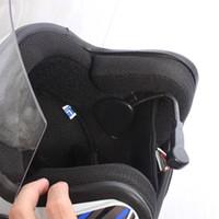 Ciclismo Capacetes Mini Bluetooth 4.0 Headphones Motocicleta Capacete Intercom Headset BT Interphone Wireless Handsfree Speakers Fone de Ouvido