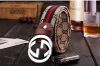 100% realy Leather Belt Smooth Buckle Women And Men High Qua...