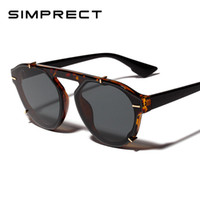 SIMPRECT 2019 oversize cat eye occhiali da sole donne fashion big cateye occhiali da sole vintage nero lunette de soleil femme yj1022
