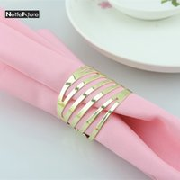 Gold Silver Metal Napkin Ring Dinner Table Decoration Suppli...