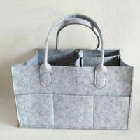 Детские пеленки сумки серый детские пеленки сумка портативный автомобиль путешествия организатор войлочная корзина новорожденная девочка мальчик подгузник сумка для хранения пользу RRA2789