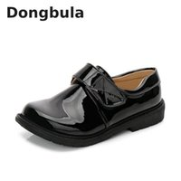 boys Leather Shoes British Style School Performance Princess...