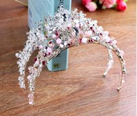 Espumante Bling Bling Cristal Rhinestone Duas Cores Nupcial Coroa Novo Design Da Noiva Headpieces Top Venda Cabeça Tiaras Acessórios