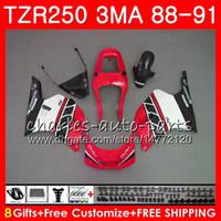 바디 핫 세일 블랙 for YAMAHA TZR250 3MA TZR 250 RS RR YPVS TZR250RR 118HM.91 TZR-250 88 89 90 91 TZR250 1988 1989 1990 1991 Fairings kit