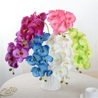 1 Piece lifelike Artificial orchid Phalaenopsis flowers silk...