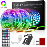 Tam Ev Aydınlatma LED Şerit Işıkları RGB 16.4FT / 5 M SMD 5050 DC12V Esnek Les Şeritler Işıklar 50LED / Metre 16 Sonfferent Static Renkler