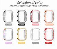 Diamant Bling Protect Fall für Apple-Uhr 1 2 3 Series 38MM 42MM Bling Strass Plating Schutzhülle für Apple-Uhr