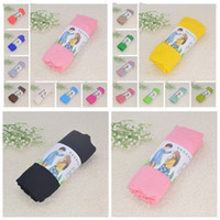 Solid Sciarpa Plain Sunscreen sciarpe di cotone di lino di colore della caramella avvolge Estate Telo scialle foulard Pashmina Ragazze Bandana Sarong ZYQD7315