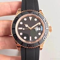 Montre pour homme en or rose 18 carats sertie 116655 série 40MM bague en céramique verre saphir mouvement mécanique automatique bracelet en caoutchouc