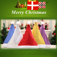 hot Sequins Adults Christmas Hat Fashion Winter Warm Pompon ...
