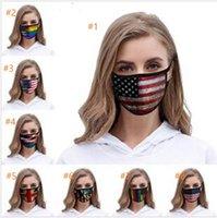 Masques américain visage Drapeau 2020 Trump américain Élection Fournitures d'impression Masque anti-poussière universel pour adultes Masques de fête d'enfants