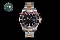 Nouveau produit Meilleure qualité ARF 904L Steel 18K Or 43mm Sea-Dweller 126603-0001 Ceramic Bezel Cal.2824 Mouvement Montres de Montres pour hommes automatiques
