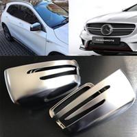 Pour Mercedes-Benz GLK ALK A-classe C-classe E classe Placage Matt Rearview Mirror Logement modifié Argent W204