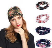 2018 Tie Dye BOHO Wide Cotton Stretch Women Headband Fascina...