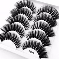 3D Mink Hair False Eyelashes Criss- cross Thick 25mm Lashes E...