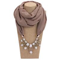 Novo Estilo Declaração Colar Vintage Natureza mulheres Pedra Pingente de Colar de Resina jóias Cachecol Beads Jóias Étnicas