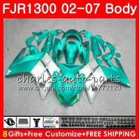 Kit For YAMAHA FJR1300A FJR-1300 2001 2002 2003 2004 2005 2006 2007 120HM.63 FJR 1300 FJR1300 01 02 03 04 05 06 07 Fairings Cyan silvery hot